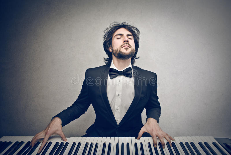 Download Man playing the piano stock image. Image of person, caucasian - 30037201