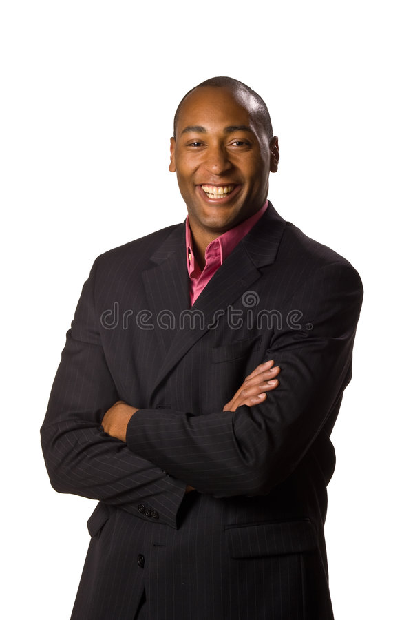 Download Man Wearing Suit With Smile Stock Photo - Image: 5497260