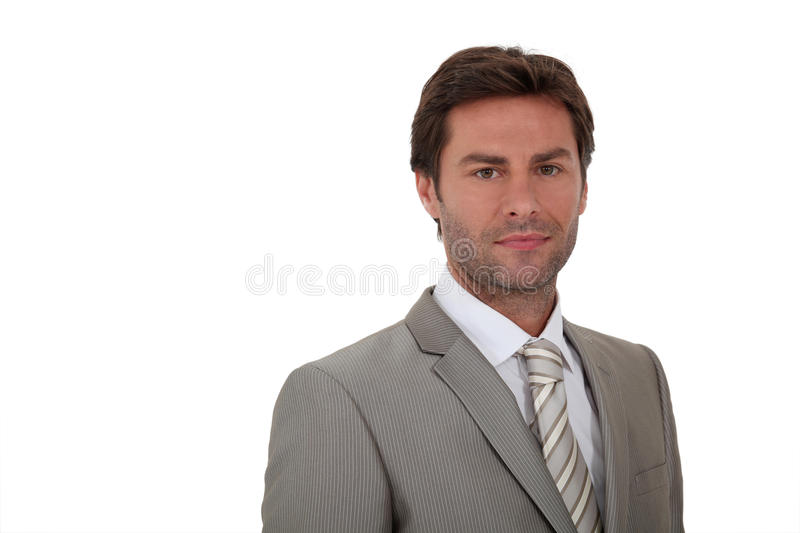 Man Wearing Suite White Background Royalty Free Stock Photography