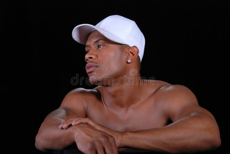 Download Man wearing white cap. stock photo. Image of body, horizontal - 7398698