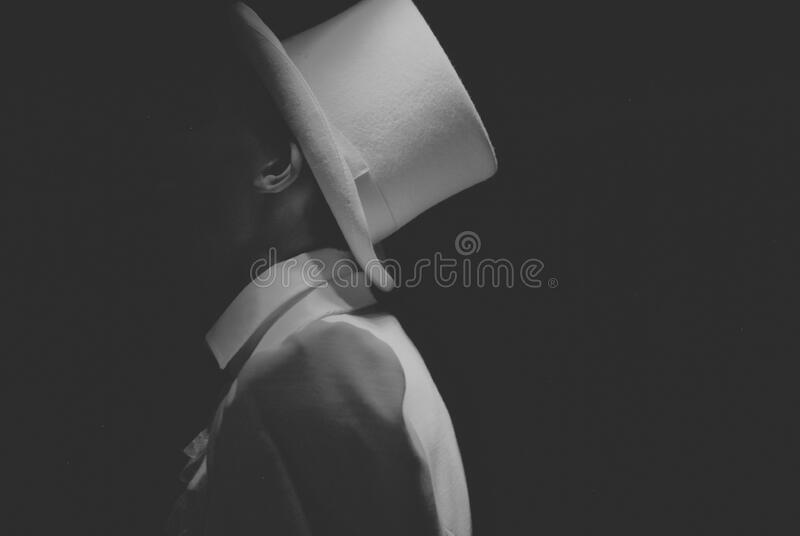 Man Wearing White Hat Greyscale Photography Free Public Domain Cc0 Image