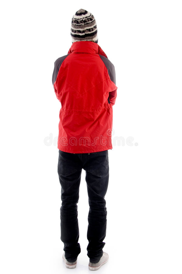 Download Man Wearing Winter Cap And Jacket Stock Photo - Image of concept, cold: 7364242