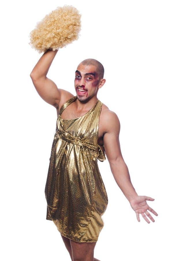 Download Man wearing woman clothing stock image. Image of dresser - 33349809