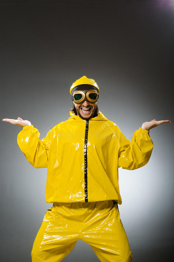 Man wearing yellow suit royalty free stock image
