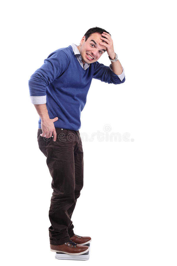 Download Man On A Weight Scale Stock Image - Image: 22367371