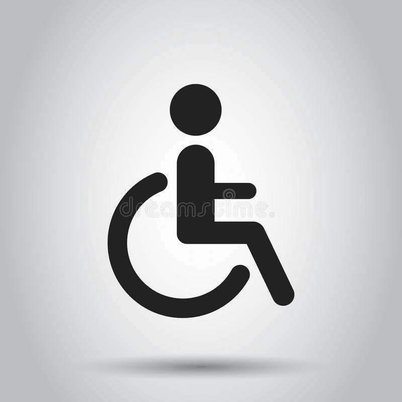 Man In Wheelchair Vector Icon Handicapped Invalid People Sign I