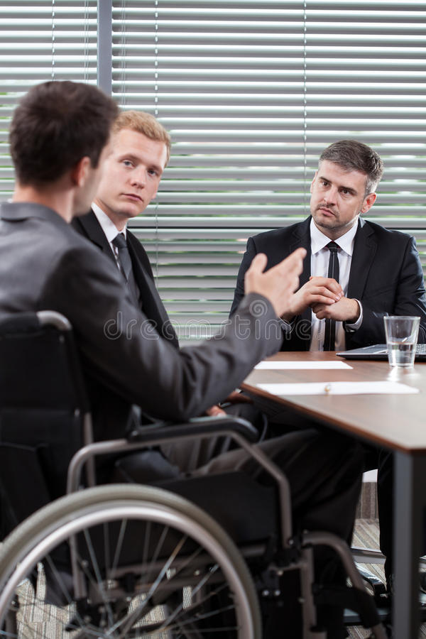 Man on wheelchair stock image