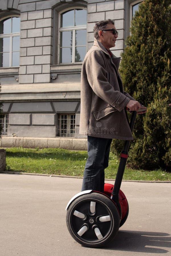 Man on the wheels