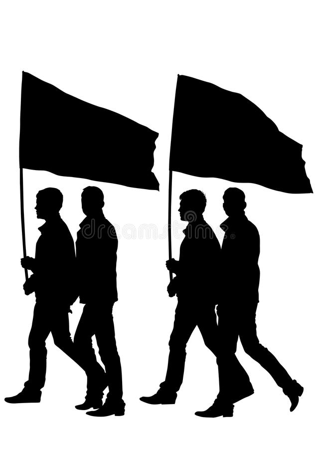 Download Man whit flag stock vector. Image of pose, person, demonstration - 24630651