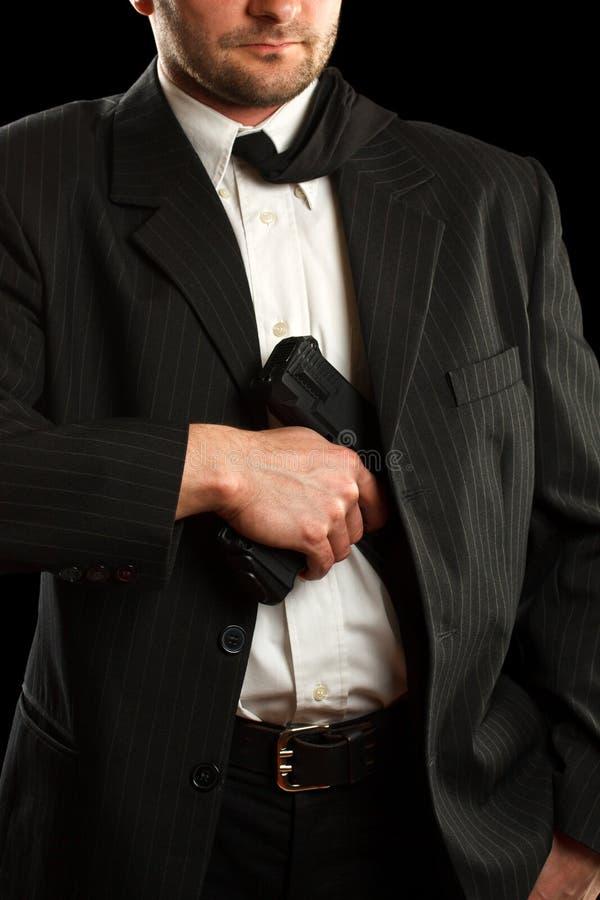 Man Whit His Gun Stock Images