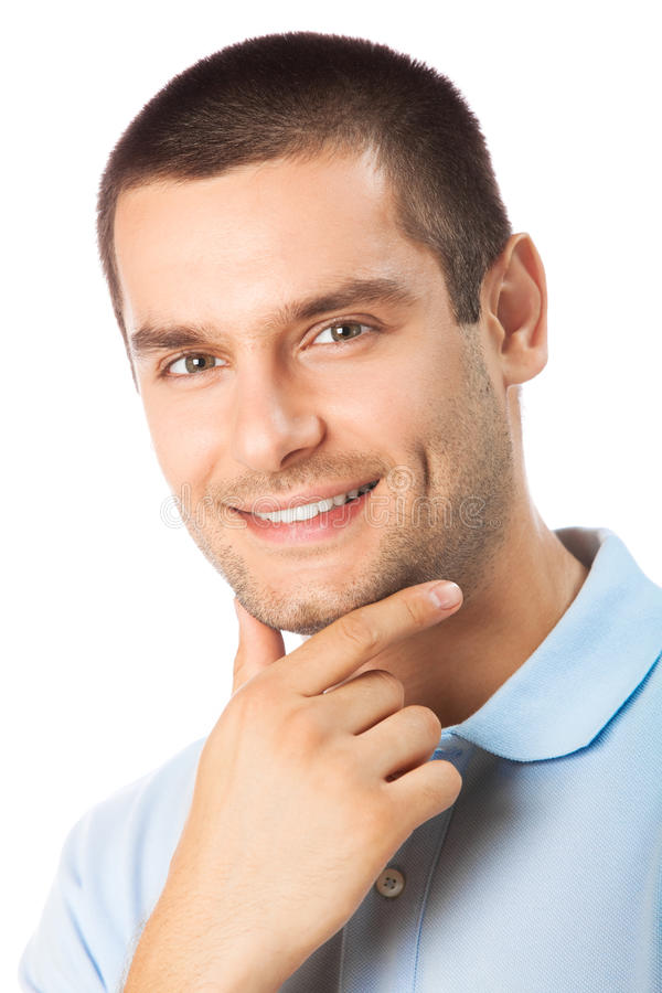 Man on white royalty free stock photography