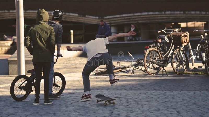 Man In White Shirt Doing Skateboard Trick Free Public Domain Cc0 Image