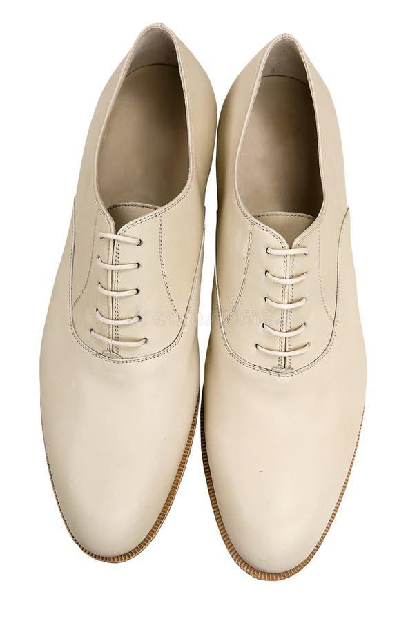 Man white shoe royalty free stock images