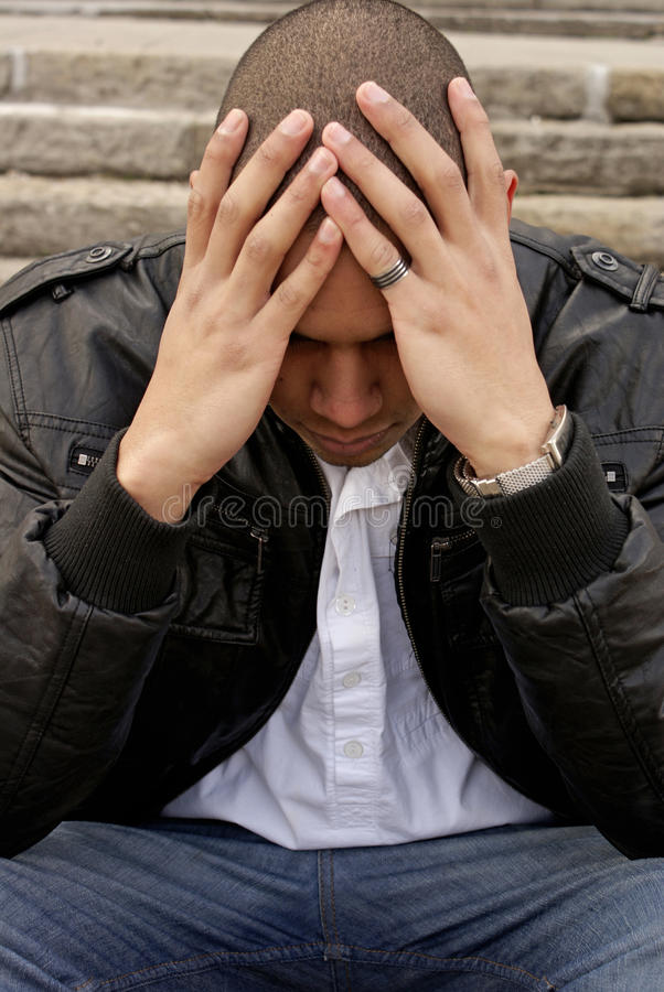 A man whith pain stock photography