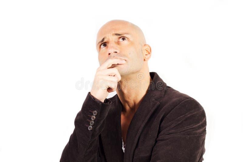 Man Who Thinks Stock Image