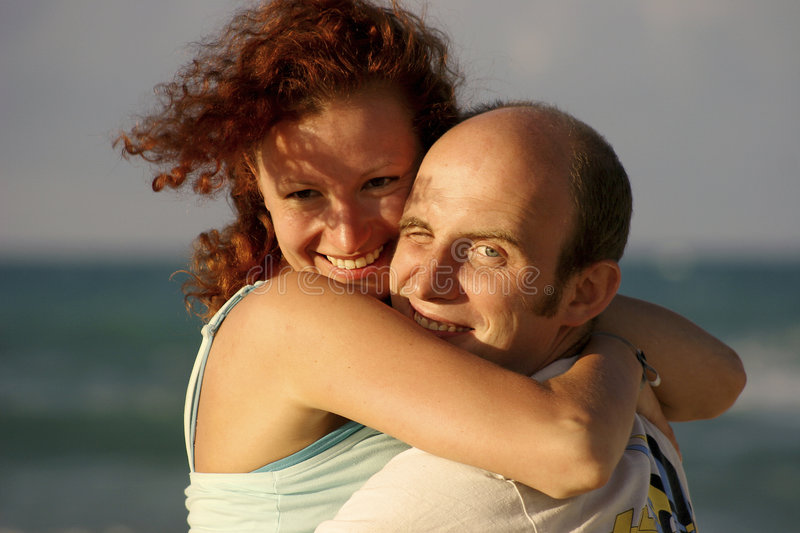 Man and wife stock image