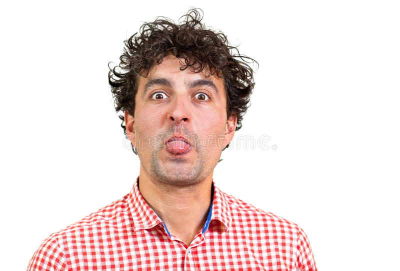 Download Man wincing stock photo. Image of white, barbe, grimace - 26090460