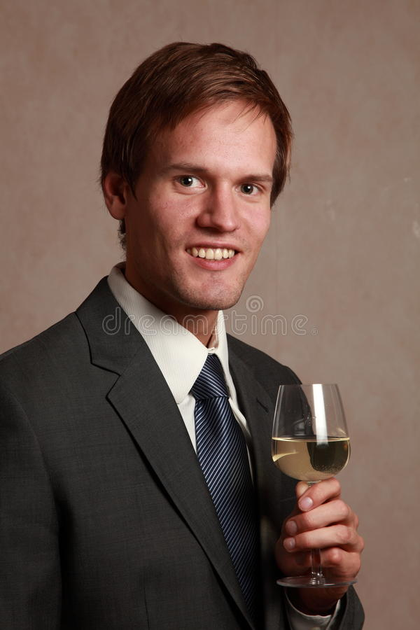 Download Man with wine glass stock photo. Image of telephone, businessman - 21766872