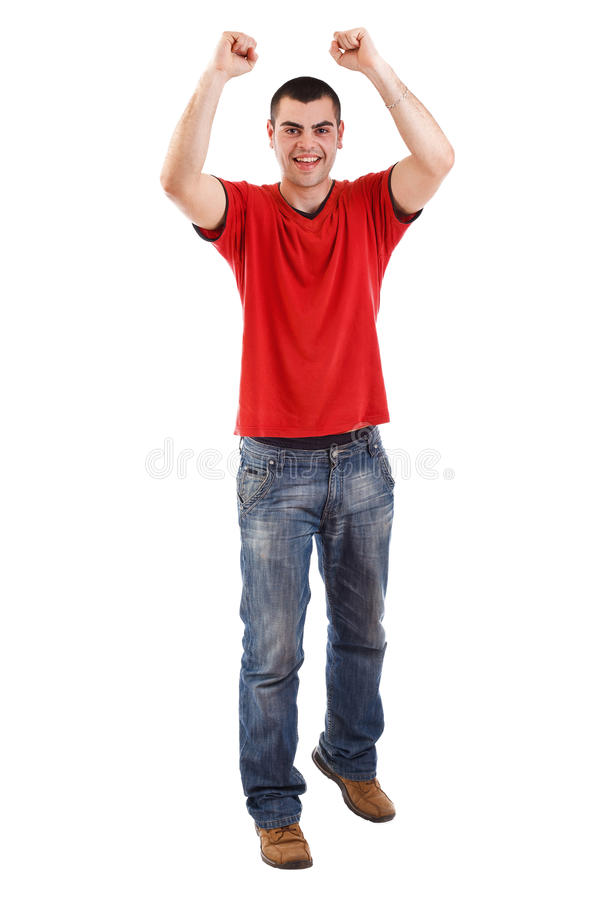 Download Man winning stock image. Image of success, casual, triumph - 24067157