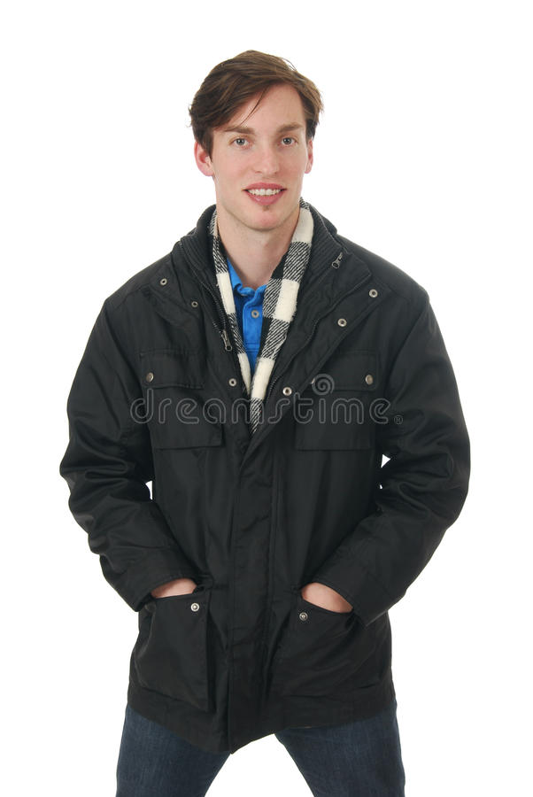 Man In A Winter Jacket Royalty Free Stock Images