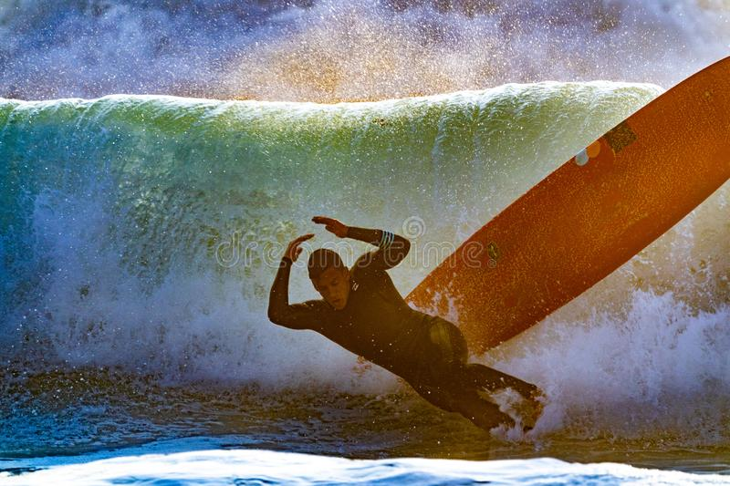 Man Wiping Out Of Surfboard Free Public Domain Cc0 Image