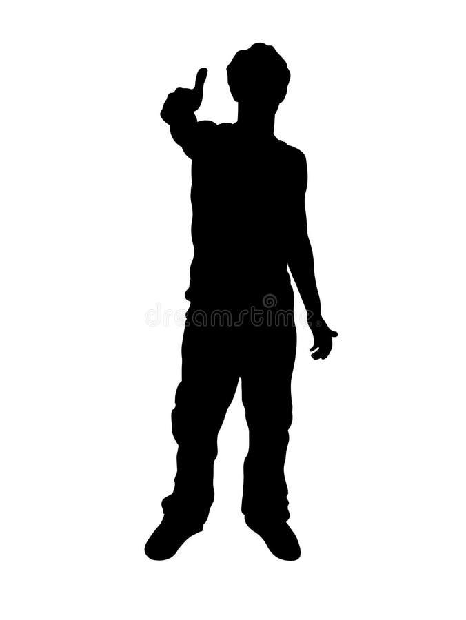 Download Man wishing good-luck stock illustration. Image of full - 7419062