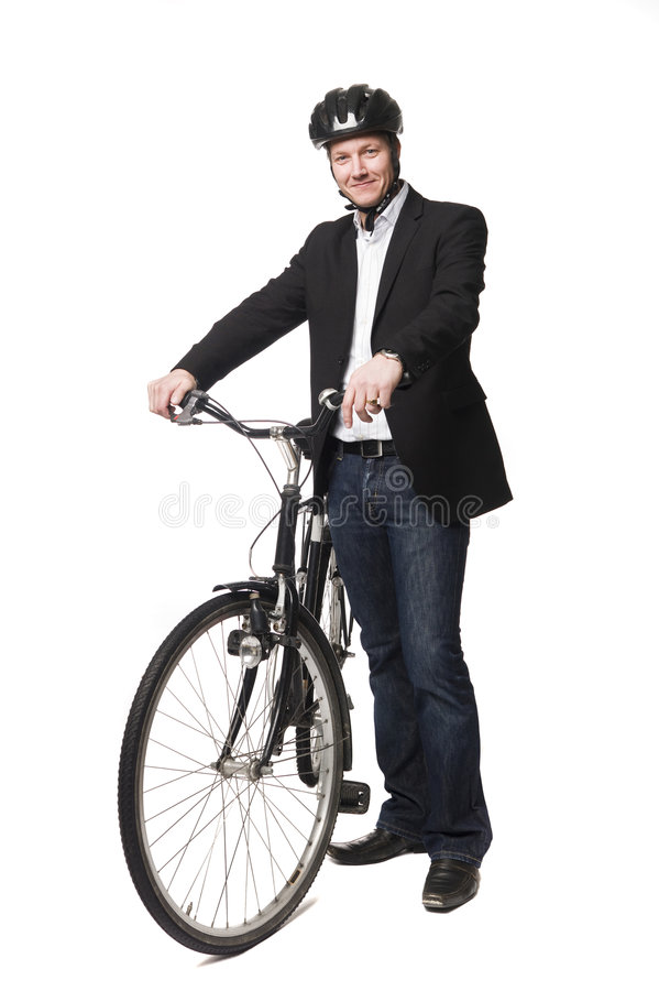 Free Man With A Bike Royalty Free Stock Photo - 8699725