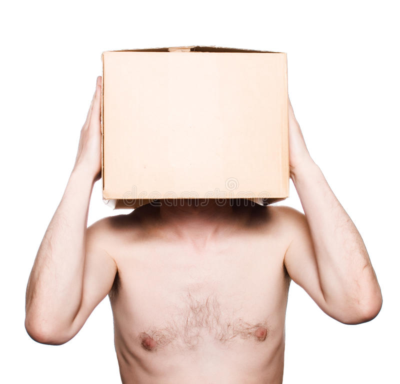 Free Man With A Box Royalty Free Stock Photography - 14687437