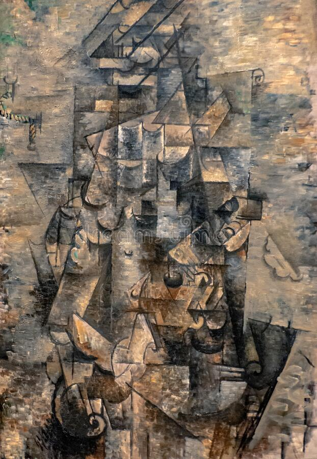 Free Man With A Guitar By Georges Braque Stock Photos - 201620563