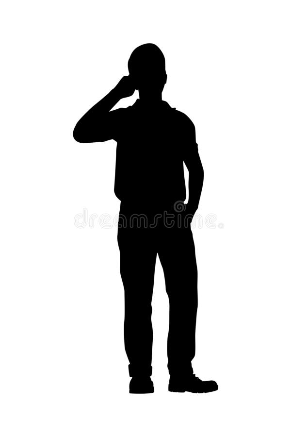 Free Man With Cellphone Silhouette Vector Royalty Free Stock Photo - 197334655