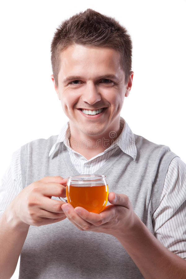 Free Man With Cup Of Tea Royalty Free Stock Photo - 19561585