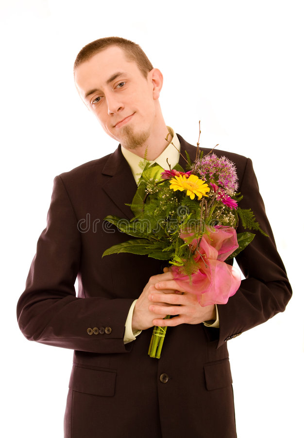 Free Man With Flowers Stock Images - 9221134