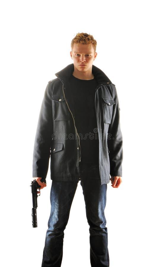 Free Man With Gun Stock Image - 19455151
