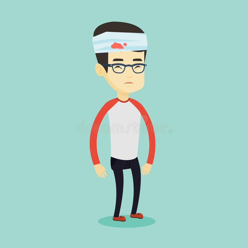 Free Man With Injured Head Vector Illustration. Royalty Free Stock Image - 88833336