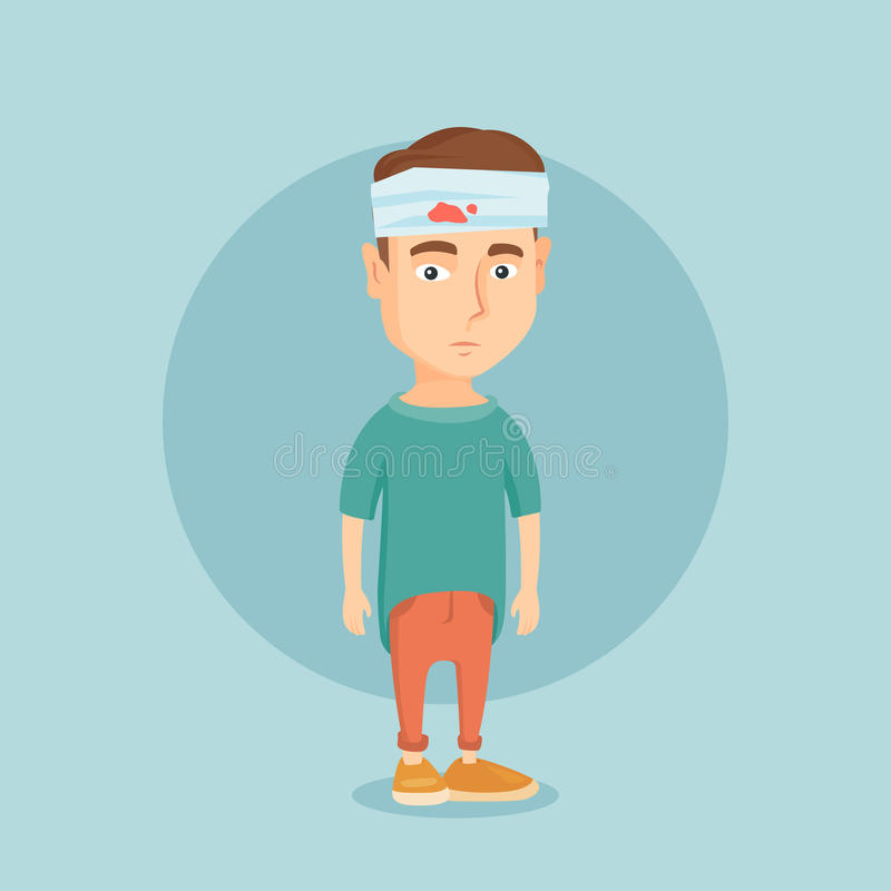 Free Man With Injured Head Vector Illustration. Stock Photography - 89349312