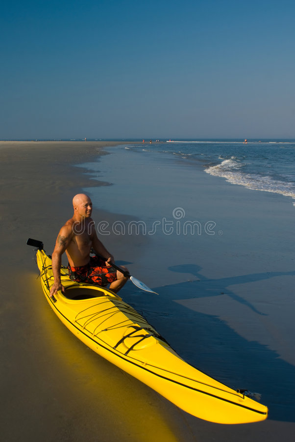 Free Man With Kayak Stock Photo - 5539750