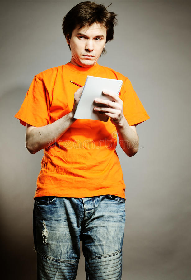 Free Man With Notebook. Stock Photography - 14475822