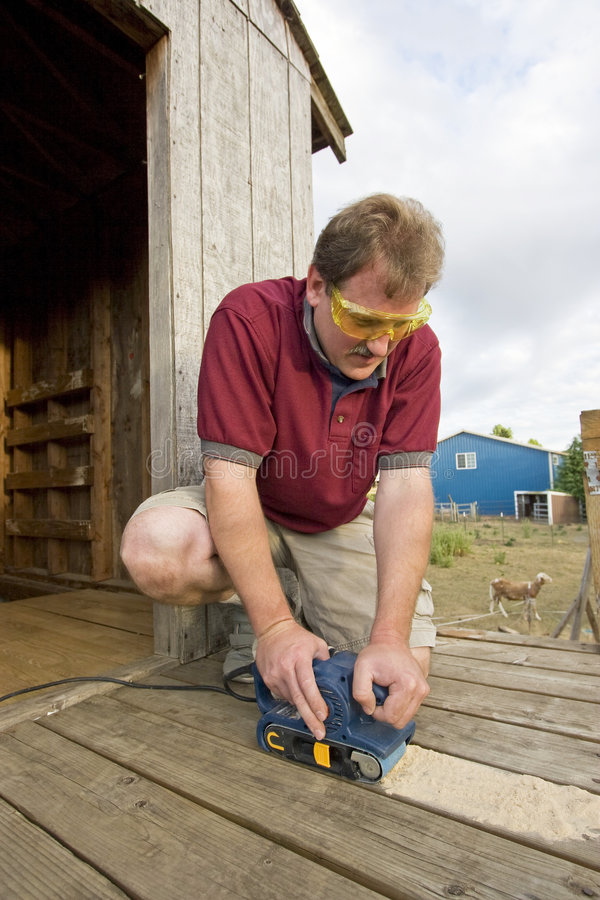 Free Man With Power Tool Stock Photography - 6275592