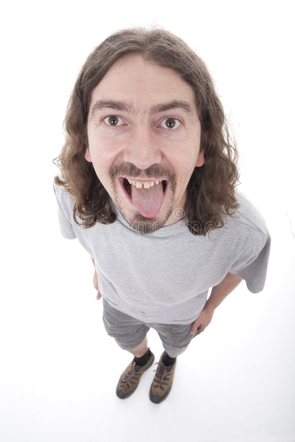 Free Man With Silly Face Stock Images - 10783204