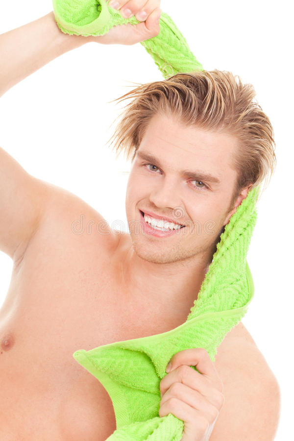 Free Man With Towel Royalty Free Stock Photography - 20568987