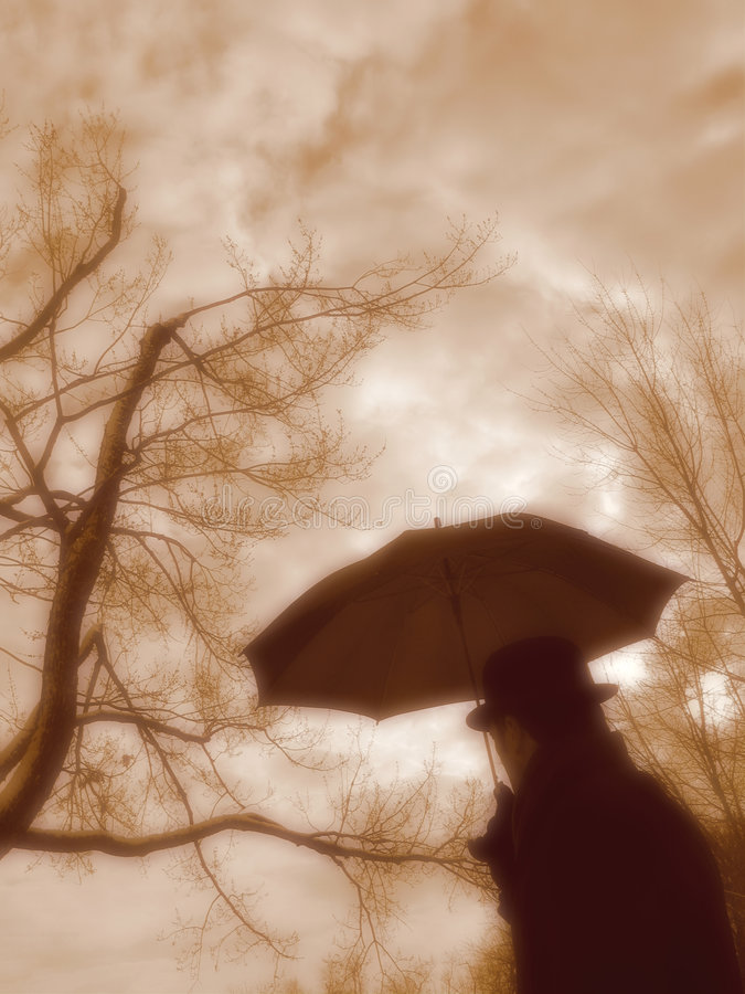 Free Man With Umbrella. Stock Images - 1294