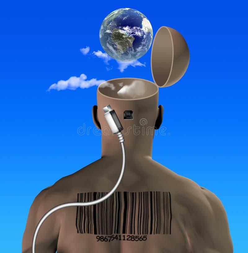 Free Man With USB Socket Stock Image - 184000341