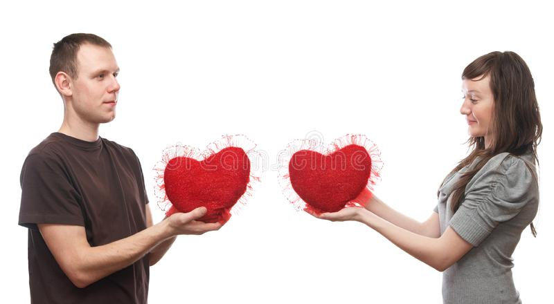 Download Man and woman stock image. Image of happy, heart, sweetheart - 10212035