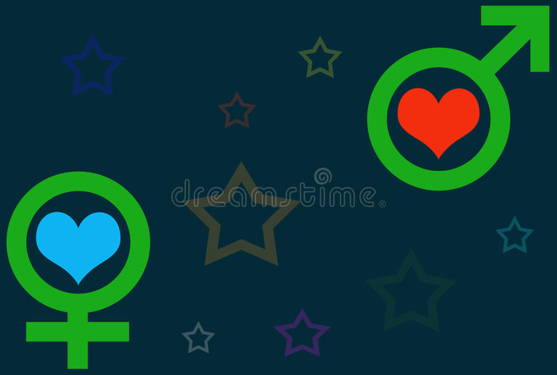 Download Man and woman stock illustration. Image of peace, abstract - 10680639