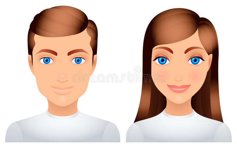 Man And Woman. Royalty Free Stock Image
