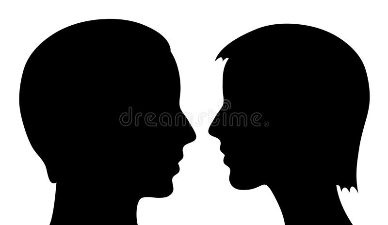 Download Man and woman stock vector. Image of design, looking - 25609819