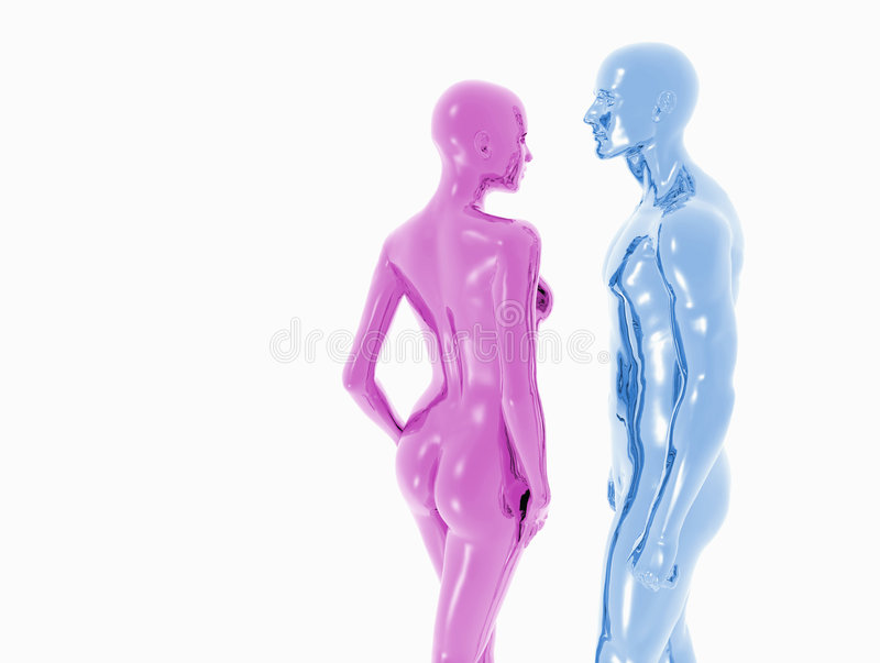 Man and woman. A couple of man and woman naked