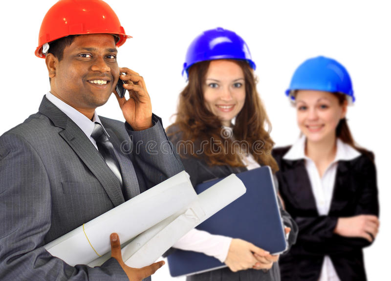 A Man And Woman Architect Team Stock Photo