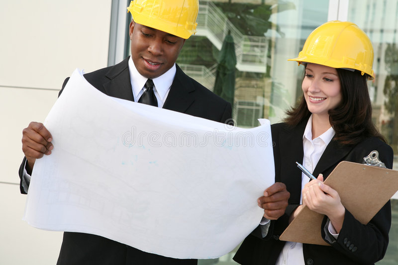 Man And Woman Architects Stock Photography