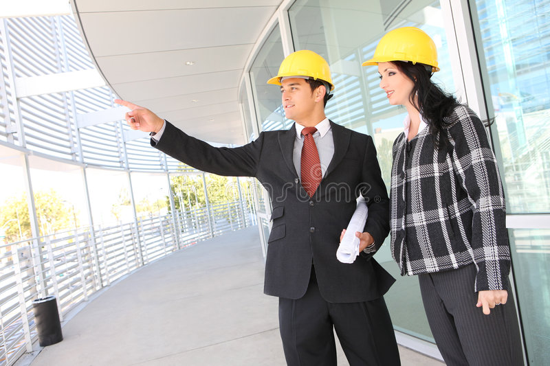 Download Man And Woman Architects On Construction Site Stock Photo - Image: 6885462